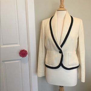 Lauren Ralph Lauren Off-white Linen Blazer Size 8